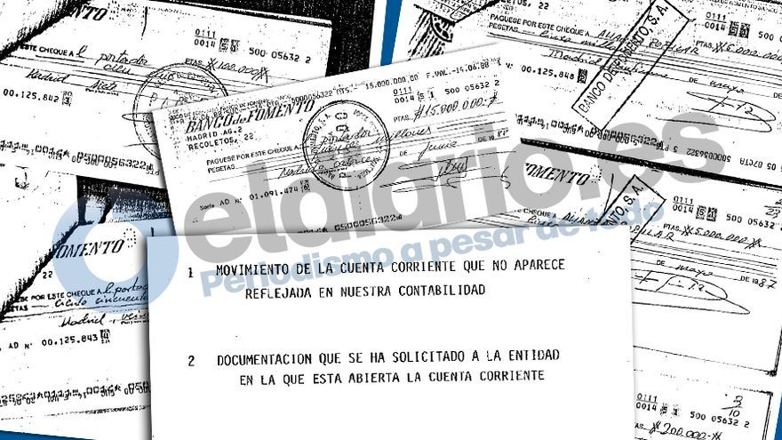 Entradas y salidas de dinero del PP en la cuenta opaca registrada por Naseiro.