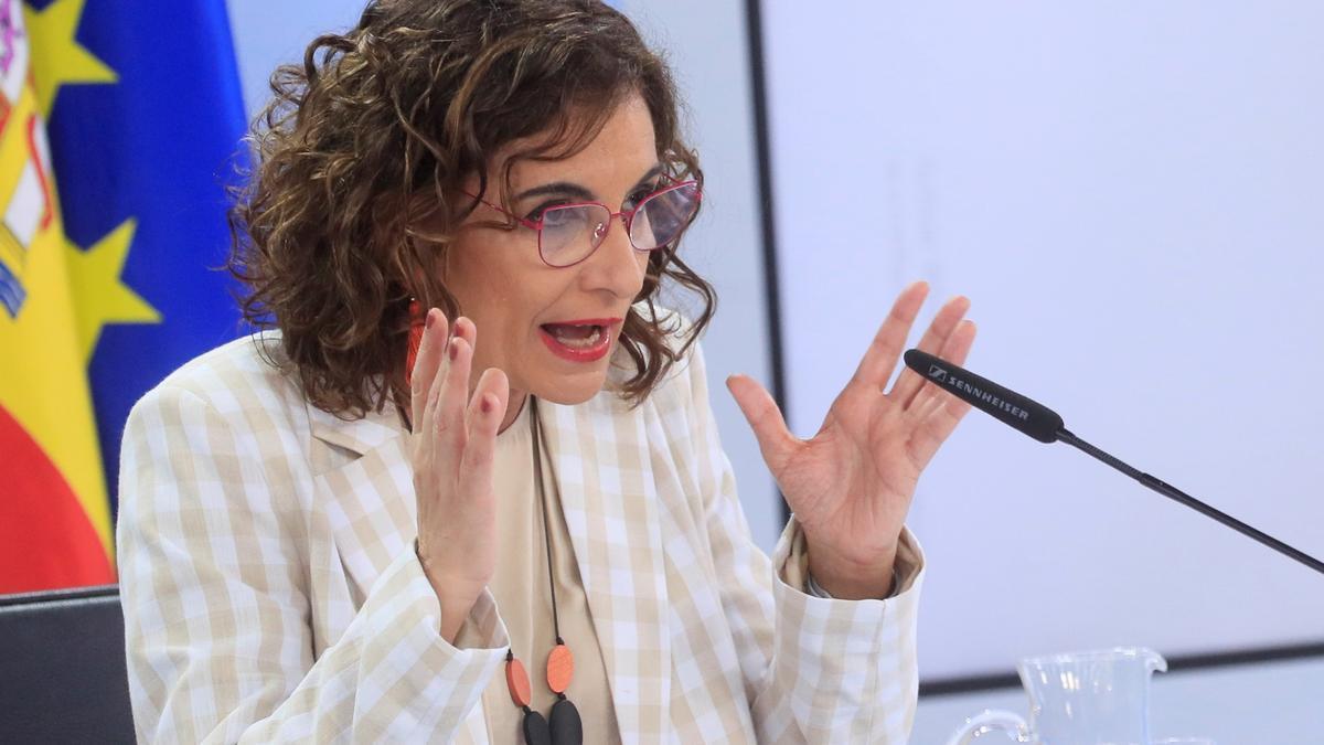 La portavoz del Gobierno y ministra de Hacienda, María Jesús Montero. EFE/Fernando Alvarado/Archivo