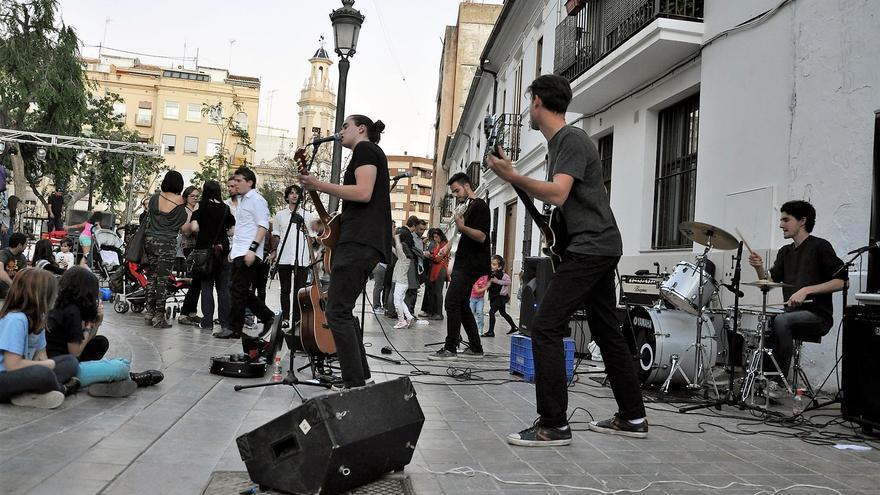 El barrio valenciano de Patraix también ha sido escenario de sus actuaciones