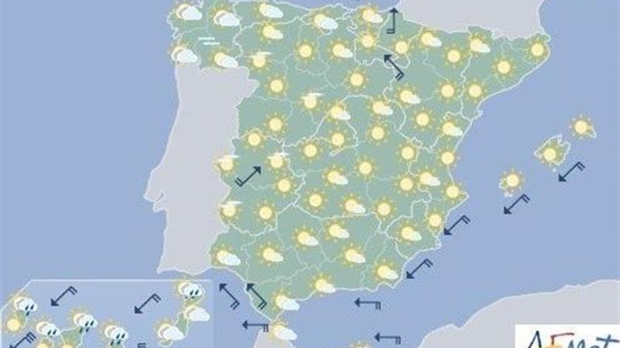 Hoy, tormentas en Galicia, Cantábrico y norte de Castilla y León