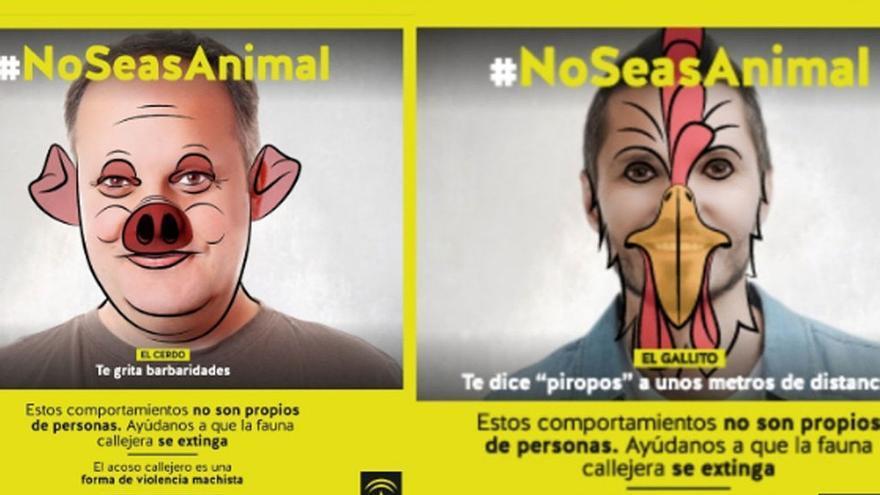 Campaña #NoSeasAnimal del Instituto Andaluz de la Mujer, Junta de Andalucía