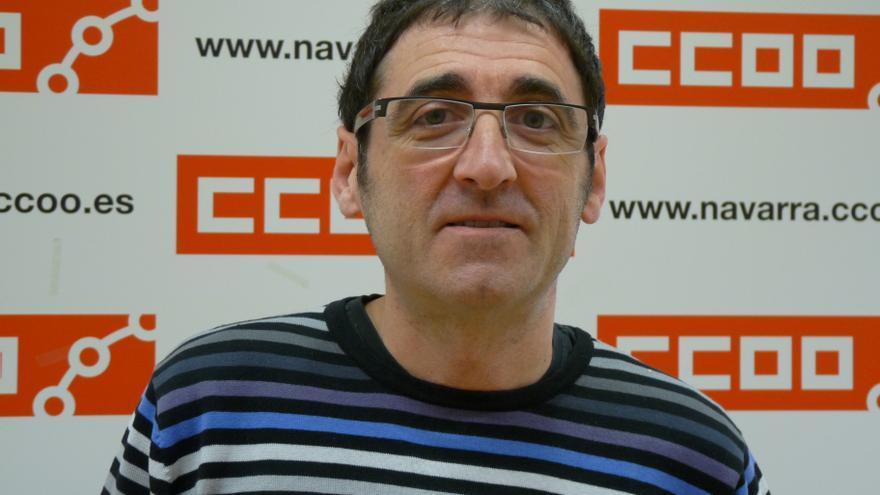 El secretario general de la Federación Servicios de Navarra de CCOO, Josu Ros.