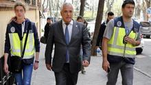 El presidente de Ausbanc, Luis Pineda, el día de su detención