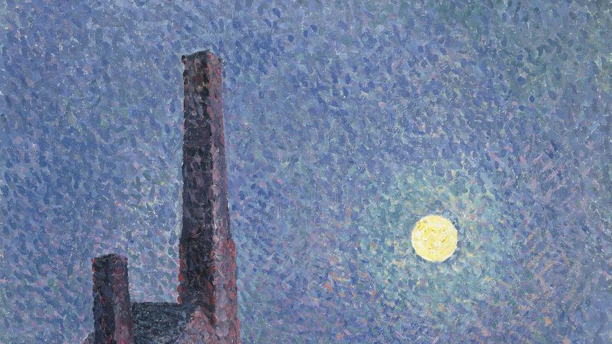 'Fábrica a la luz de la luna' (1898), de Maximilien Luce