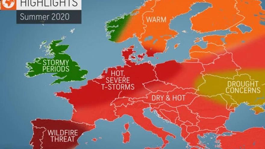 Los meteorólogos de Accuweather prevén riesgo extremo de incendios en verano tras una primavera muy húmeda