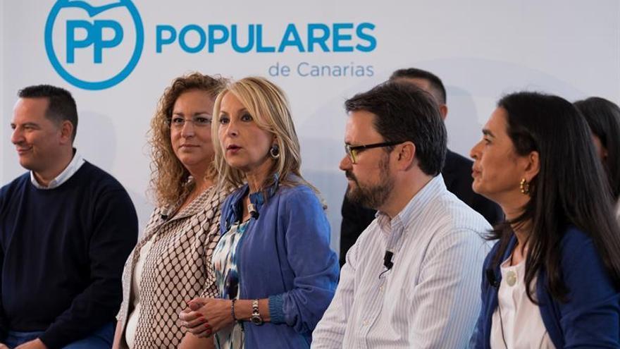 Auxiliadora Pérez, María Australia Navarro, Asier Antona y María del Carmen Hernández Bento. EFE/Ángel Medina G.