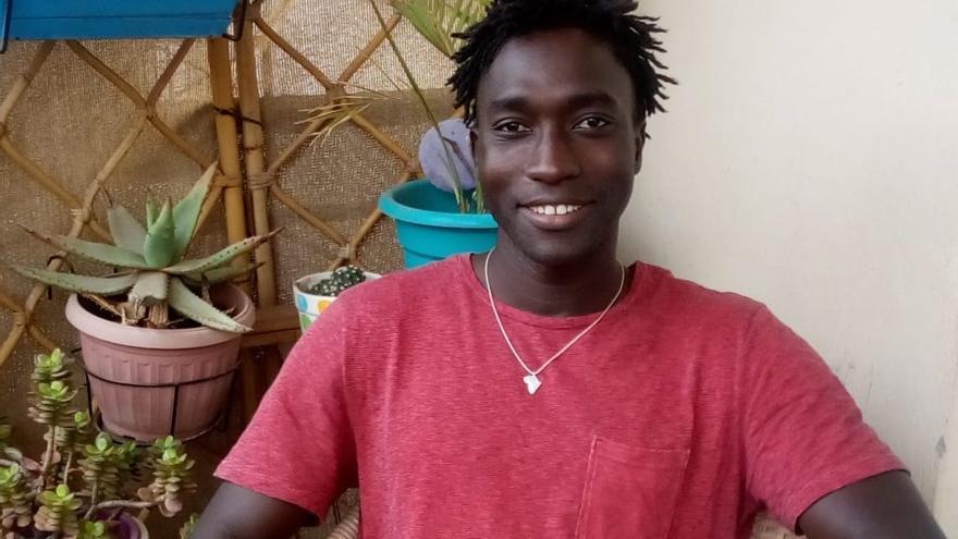 Mamadou Thiam, el joven senegalés que llegó en cayuco a Canarias con 17 años.