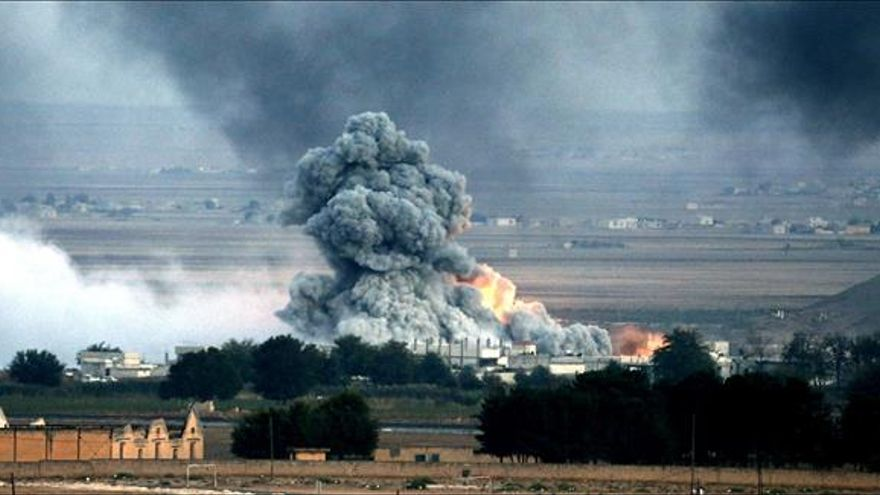 Más de 2.000 muertos en siete meses de bombardeos de la coalición en Siria