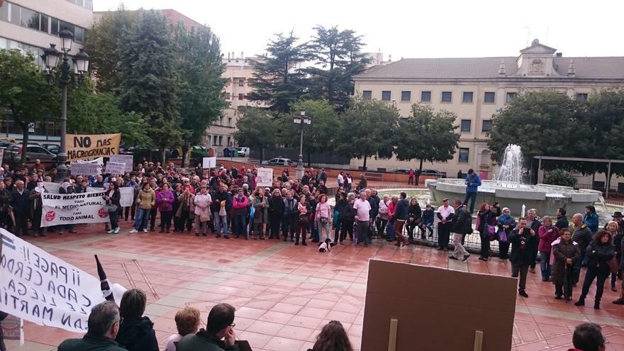 Protesta contra las macrogranjas porcinas en Cuenca