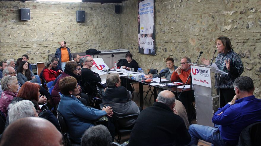Marga Sanz interviene en el Consell Polític Nacional de Esquerra Unida