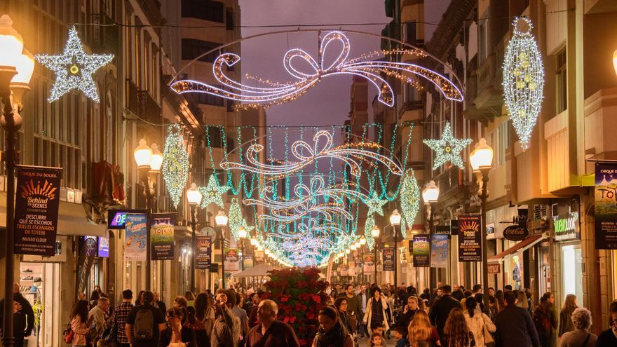 Alumbrado de Navidad en Las Palmas de Gran Canaria.