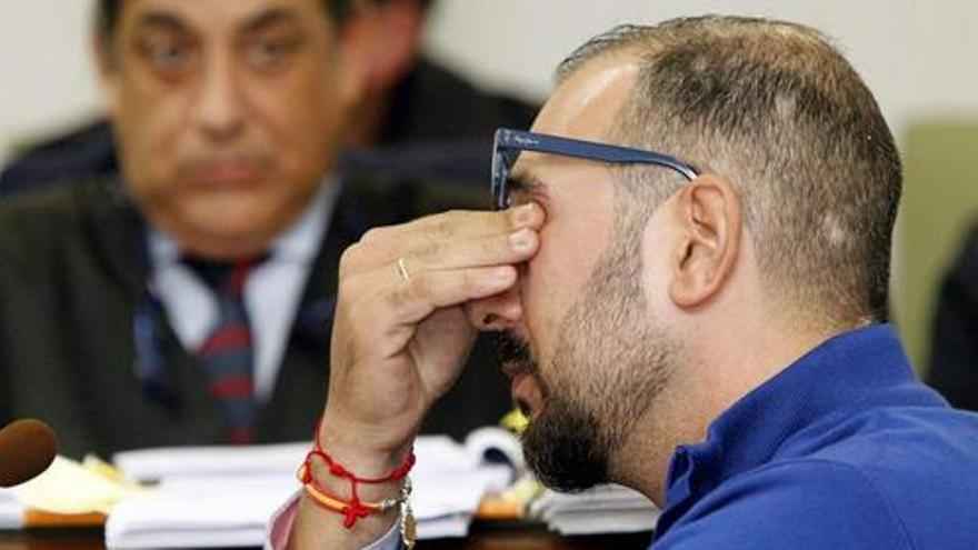 Iván Ramírez, acusado del caso Talio, en la segunda jornada del juicio.