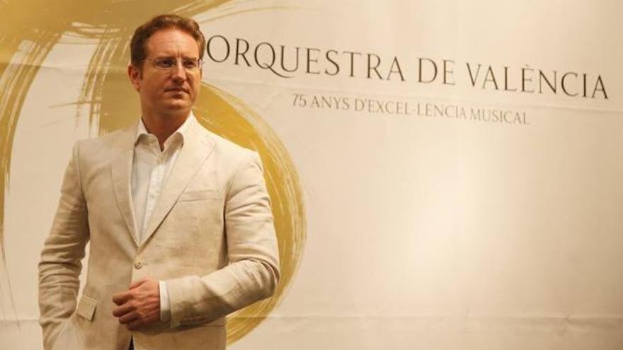 Ramón Tebar tras su presentación como director de la Orquesta de Valencia