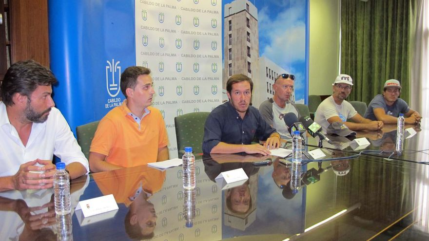En la imagen, rueda de prensa celebrada este lunes en el Cabildo.