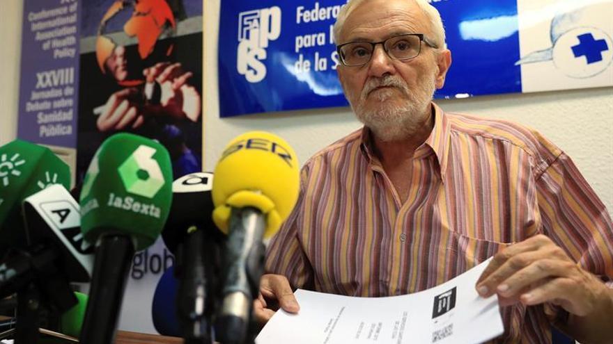 El presidente de la Federación de Asociaciones para la Defensa de la Sanidad Pública, Marciano Sánchez Bayle.