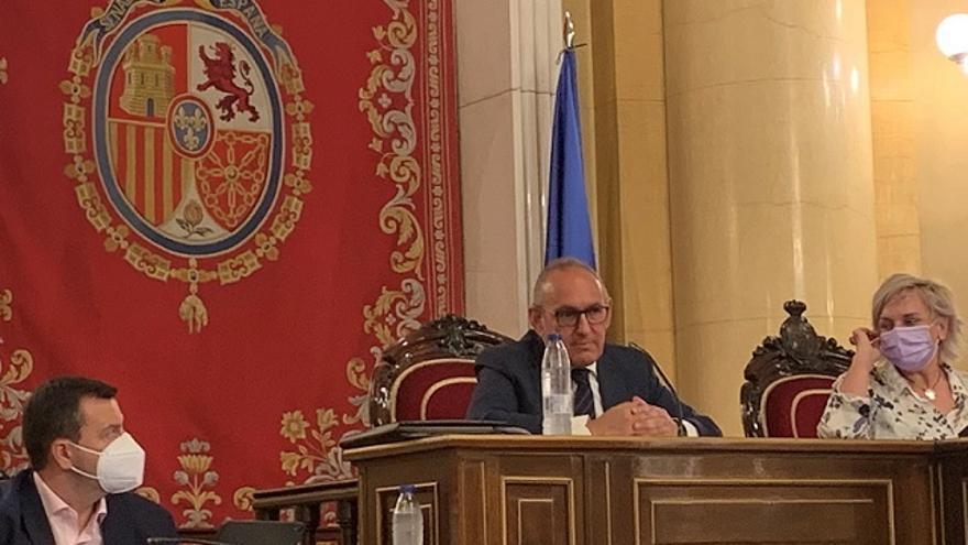 El diputado general de Álava, Ramiro González, en el Senado