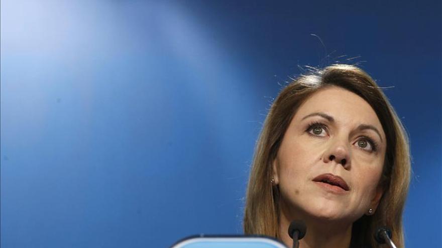 Cospedal dice que los ciudadanos ven en Rajoy un líder con credibilidad tras el debate