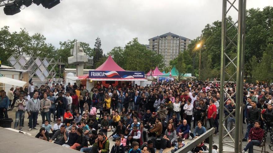 Espectadores del España-Portugal en Vitoria