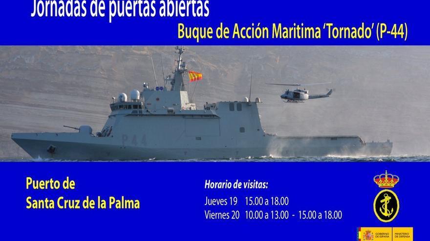 Buque de Acción Marítima 'Tornado'. Imagen: Armada Española