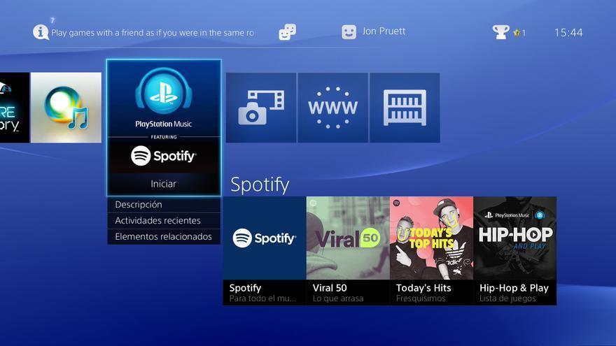 Spotify PS4