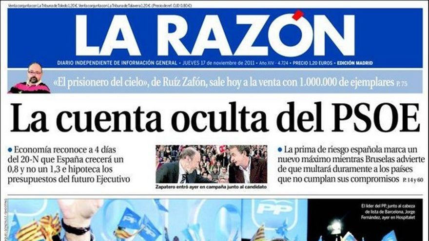 De las portadas del día (17/11/2011) #10