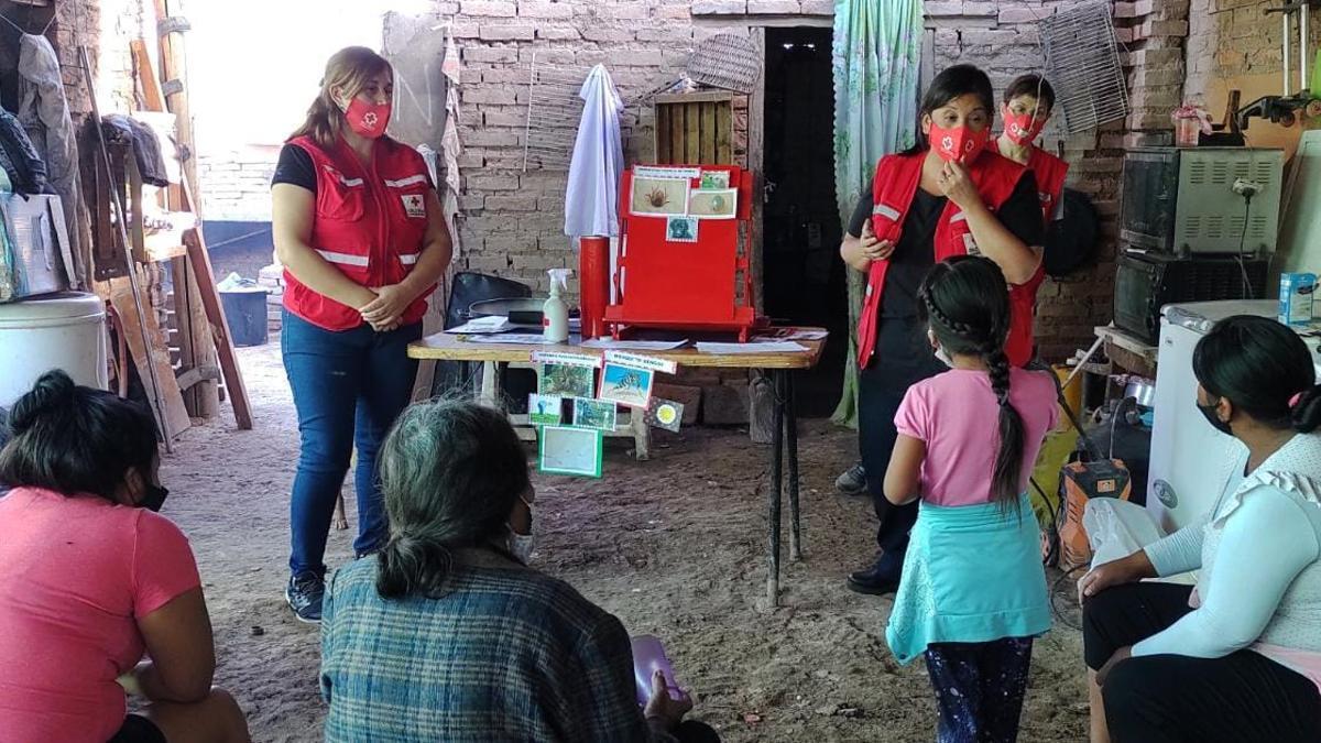 La Cruz Roja Argentina colabora activamente en la lucha contra el coronavirus.
