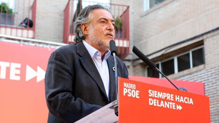 Pepu Hernández en el acto de arranque de campaña del PSOE.