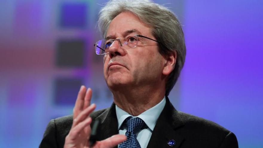 El comisario de Economía de la Comisión Europea, Paolo Gentiloni.