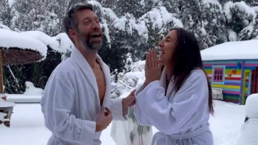 Paz Padilla se fotografía en la nieve como 'La Chusa' de 'LQSA' imitando a Cristina Pedroche