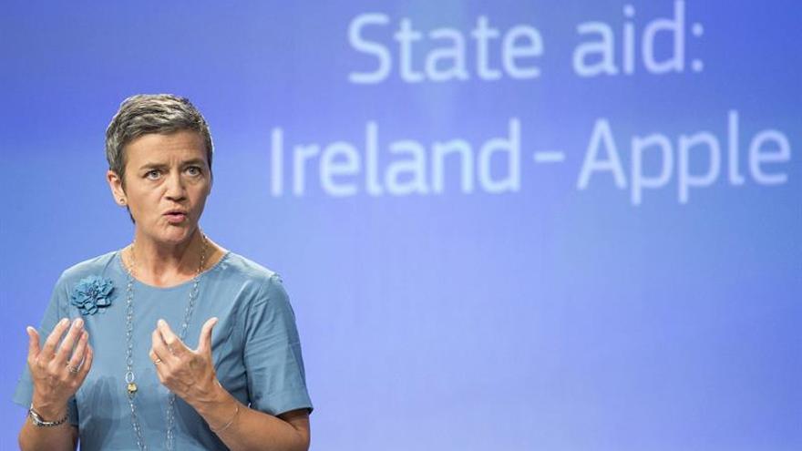 Vestager niega que haya antiamericanismo en la sanción de la UE contra Apple