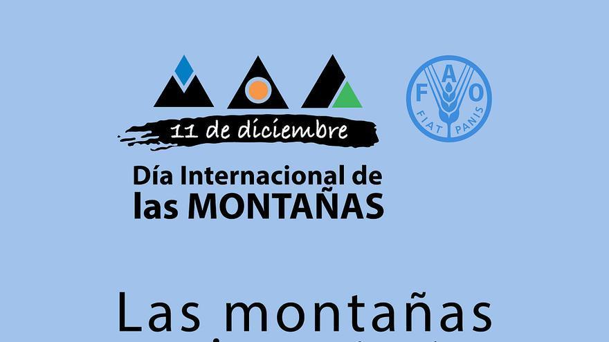 Cartel 'Día Internacional de las Montañas'.