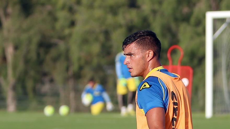 Asdrúbal, en un entrenamiento de pretemporada de la UD Las Palmas (ALEJANDRO RAMOS)