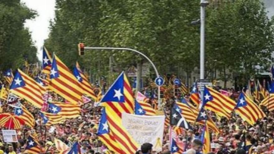 El independentismo desborda un año más Barcelona por la Diada