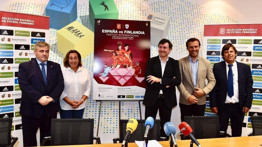 Santander acoge el 31 el partido de las selecciones de fútbol femenino española y finlandesa de cara al Mundial