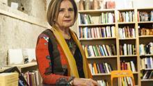 Isabel Tejerina en la Librería La Vorágine de Santander. |