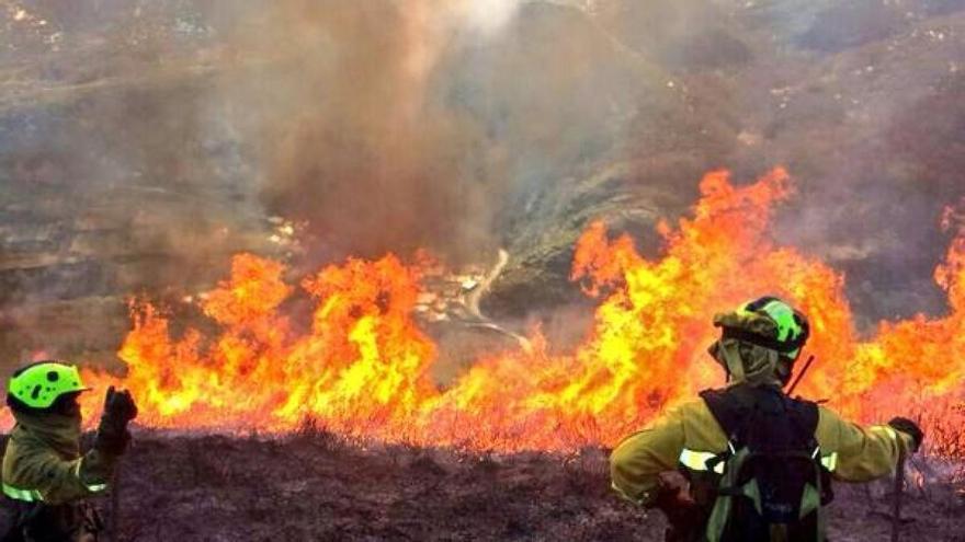 Incendio en Quiroga (Lugo), este martes BRIF LAZA