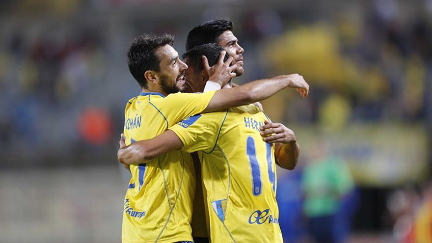 Triunfo de la UD Las Palmas ante el colista Albacete Balompié (2-1). (Carlos Díaz Recio/UD Las Palmas).