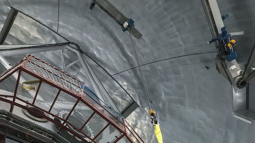 Un momento de la colocación de Hipercam en el Gran Telescopio Canarias