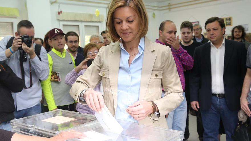 María Dolores de Cospedal votando. Foto: PP CLM   Twitter