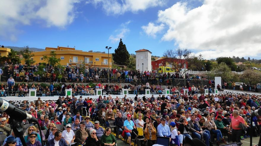 Unas 10.000 personas se congregaron este domingo en Puntagorda.