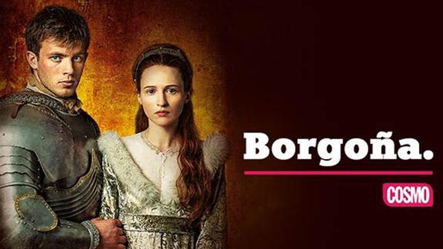Cartel de promoción del estreno de Borgoña en Cosmo