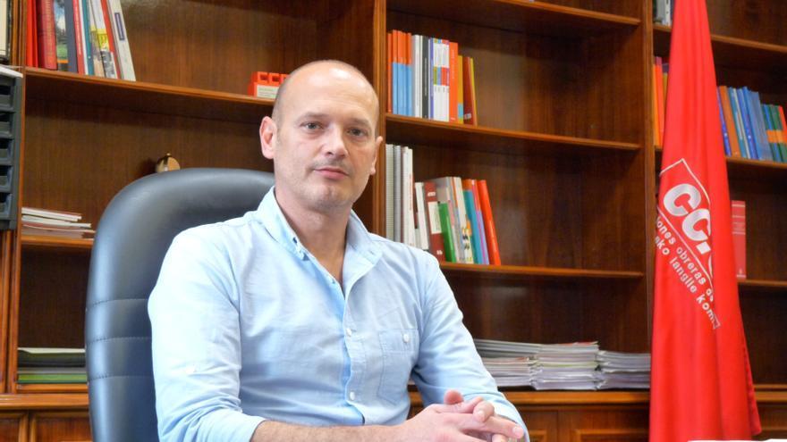 El secretario general de CCOO en Navarra, Raúl Villar.