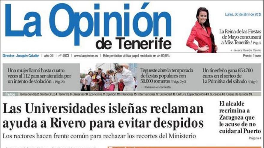 De las portadas del día (30/04/2012) #4
