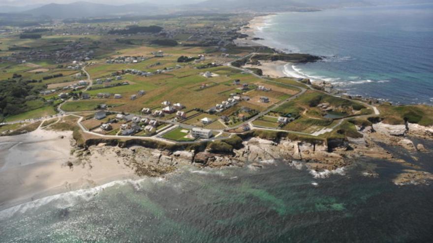 Urbanismo disperso en la costa de Barreiros (Lugo) en una imagen del Plan de Ordenación del Litoral de la Xunta