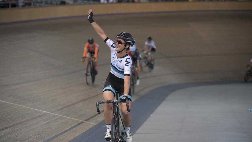 Leire Olaberria durante una competición. Foto: UNAI GÓMEZ