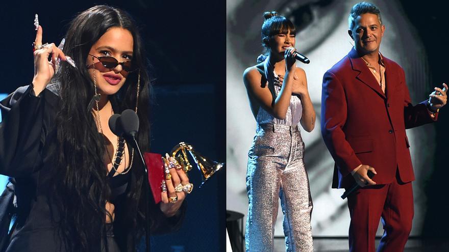 Rosalía, Aitana y Alejandro Sanz en los Latin Grammy 2019