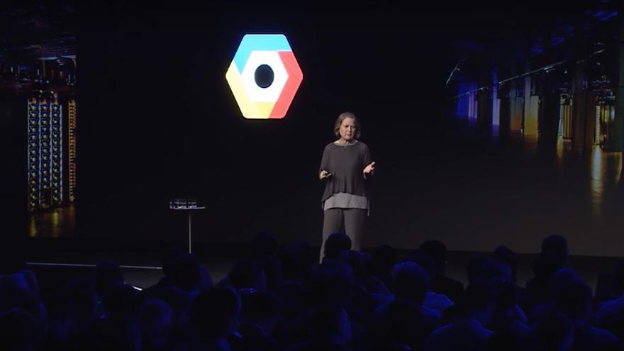 Diane Greene en la pasada 'keynote' de Google Cloud Platform