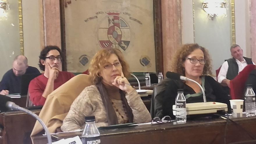 Luis Bermejo, Ángeles Micol y Alicia Morales, concejales de Ahora Murcia