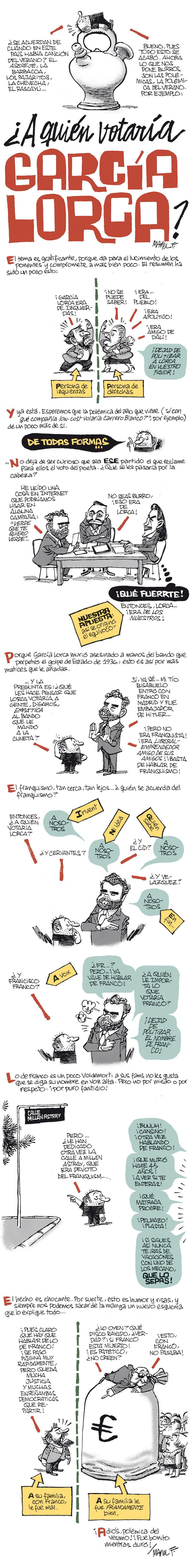 ¿A quién votaría García Lorca?