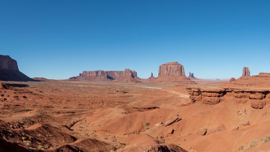 John Ford Point. Desde aquí se han grabado multitud de escenas cinematográficas que tienen a Monument Valley como marco. Eric Kilby